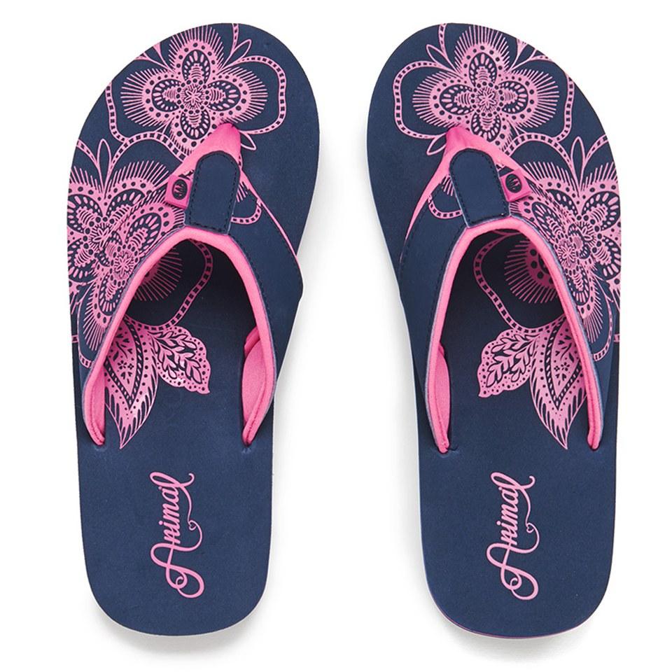 1ba8b8fff901a Animal Women s Swish Placement Flip Flops - Navy Womens Accessories ...