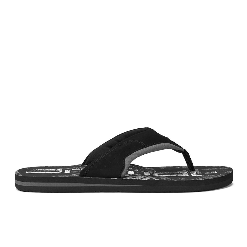 070ca77adde7 Animal Men s Jekyl Logo Flip Flops - Black Mens Footwear