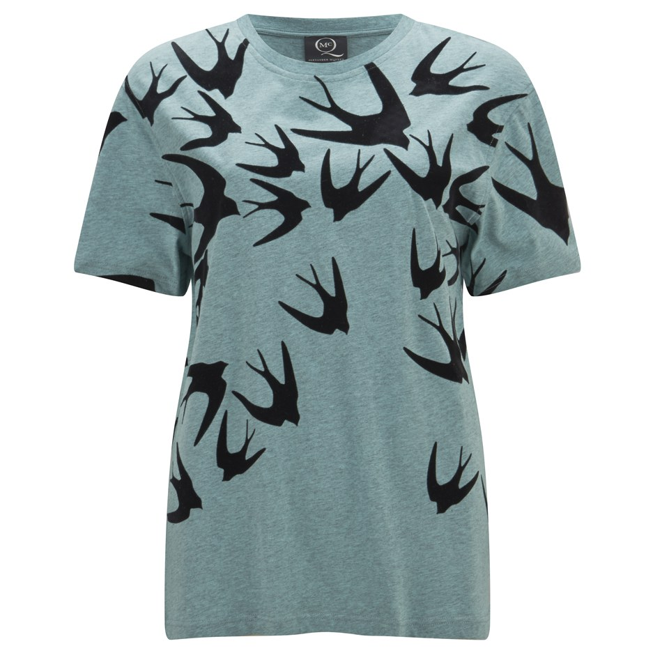 86878684 ... McQ Alexander McQueen Women's Boyfriend Swallow T-Shirt - Mint