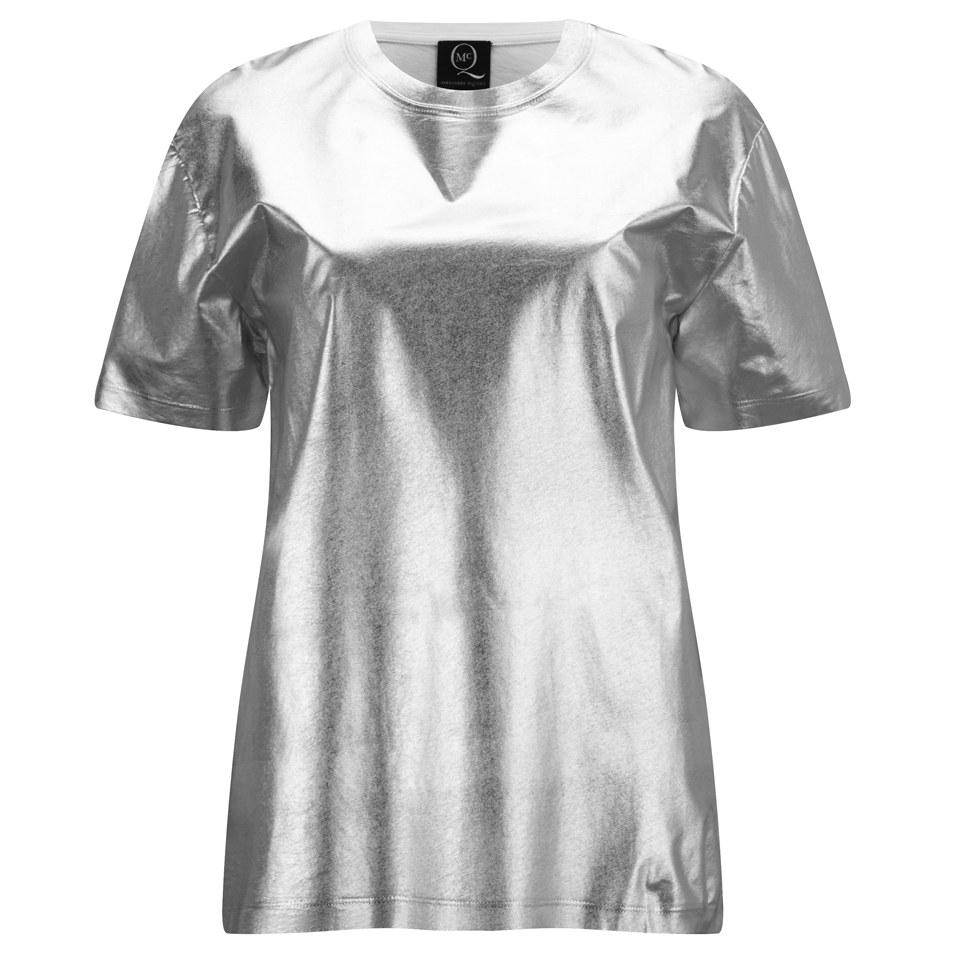 d08ac21e McQ Alexander McQueen Women's Boyfriend T-Shirt - Silver - Free UK Delivery  over £50