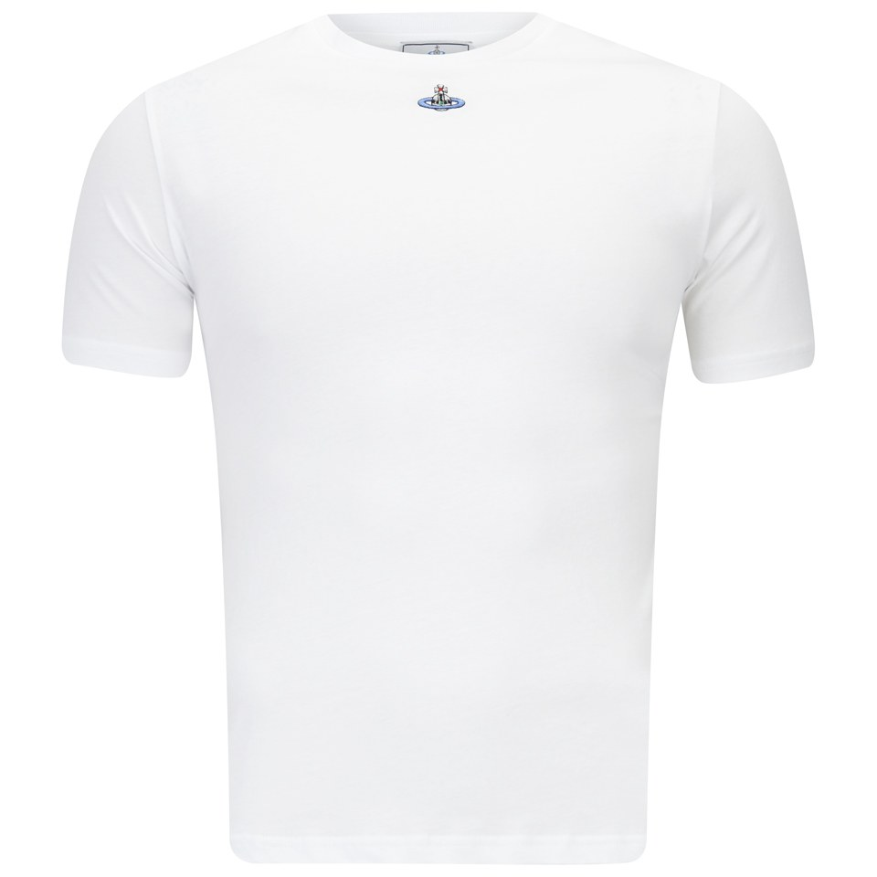 cacdb5e13c5 Vivienne Westwood Men s Round Neck Jersey Cotton T-Shirt - White - Free UK  Delivery over £50
