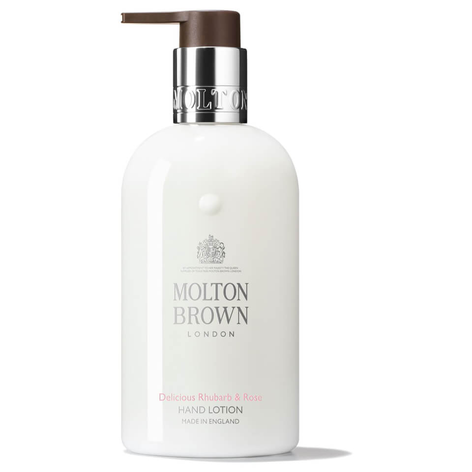molton brown delicious rhubarb and rose hand lotion 300 ml gratis lieferservice weltweit. Black Bedroom Furniture Sets. Home Design Ideas