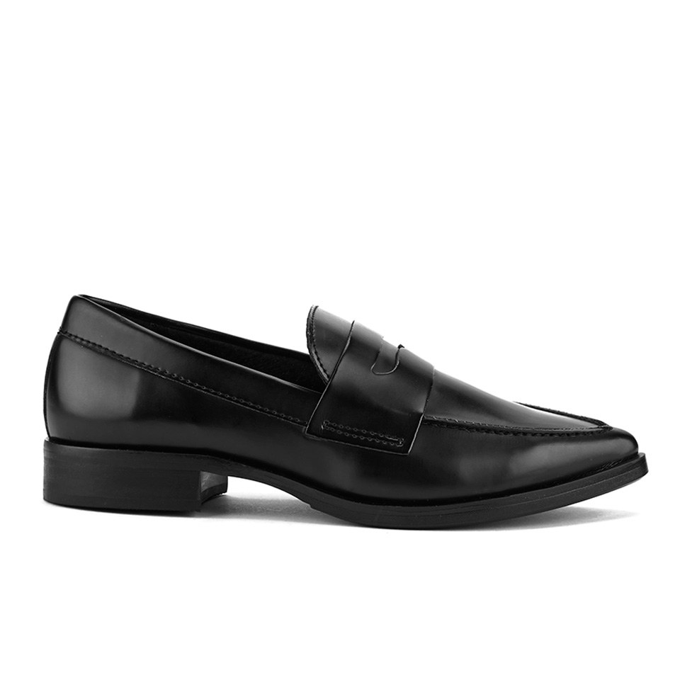 65371801d ... Steve Madden Women's Lindie Pointed Leather Penny Loafers - Black