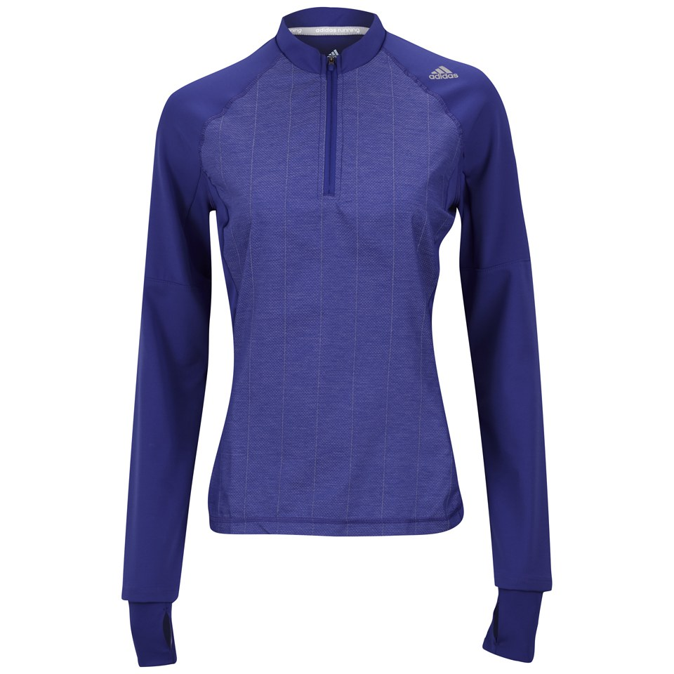 97e814b112e0a adidas Supernova Women s Storm Long Sleeve 1 2 Zip T-Shirt - Night Flash
