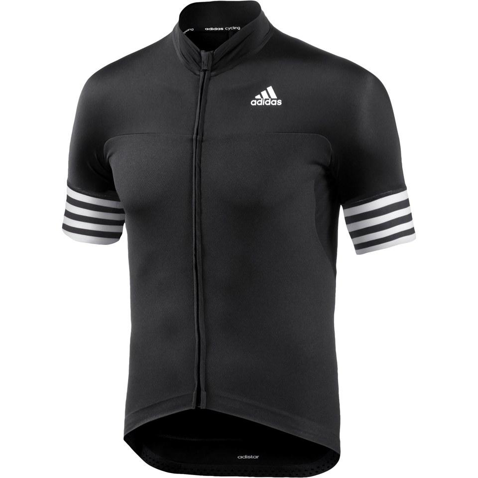 38d1235aa adidas Men s Adistar Short Sleeve Jersey - Black
