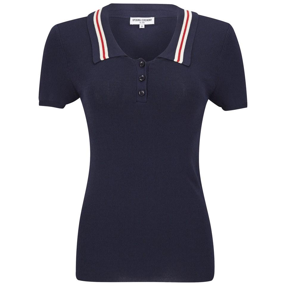 183391cd3c7 ... Opening Ceremony x Chloe Sevigny Women s Westerburg Short Sleeve Polo  Shirt- Navy
