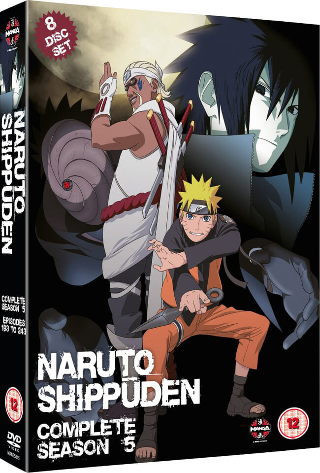 Naruto Shippuden - Series 5 Box Set (Episodes 193-243)