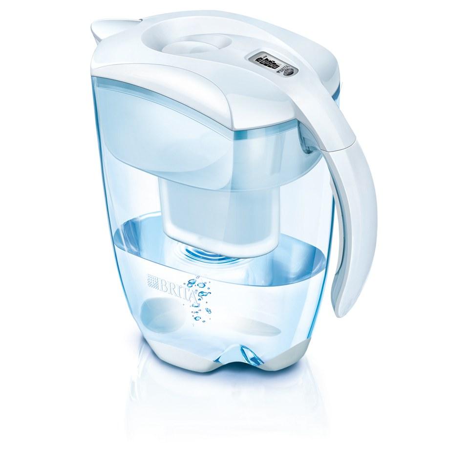 BRITA Elemaris Meter XL Water Filter Jug - White (3.5L) Homeware  2ad393a4fc27