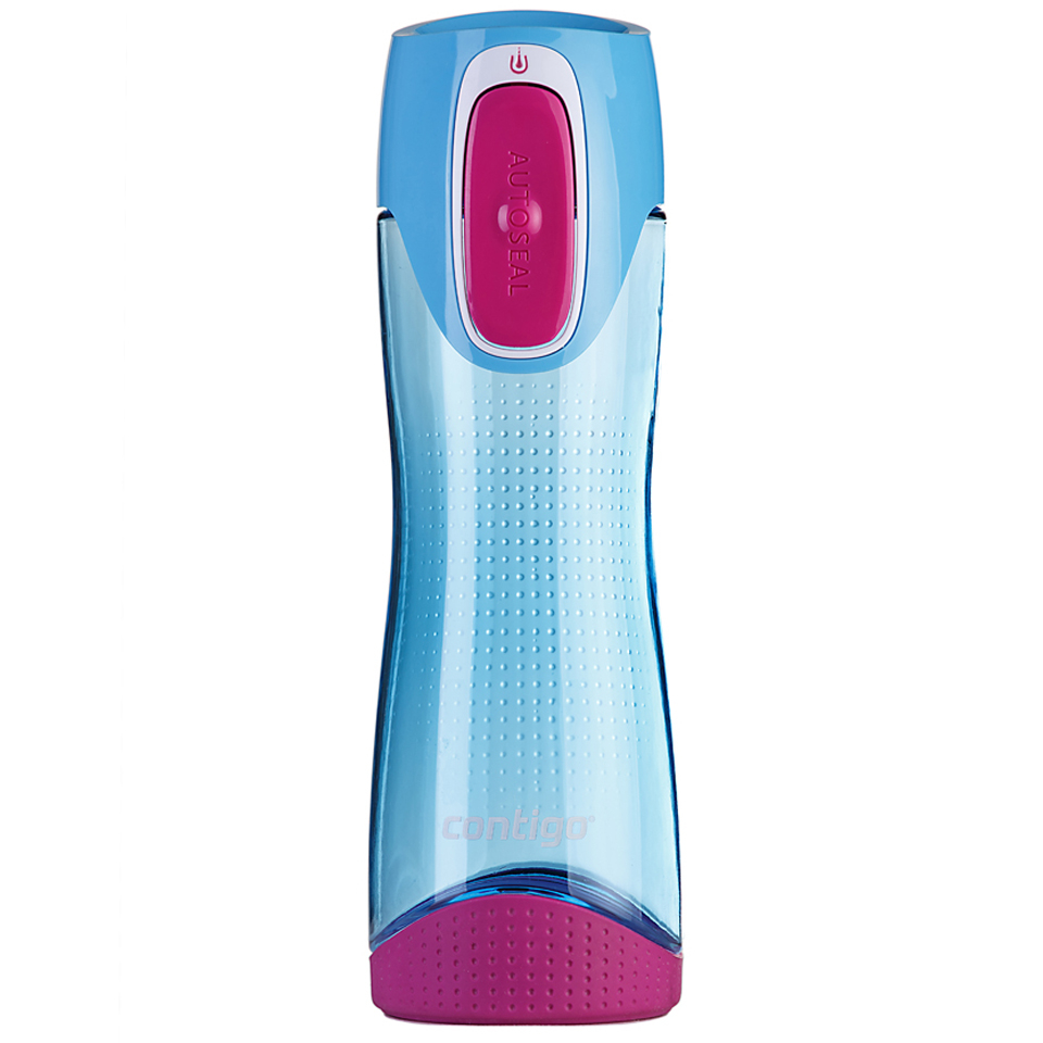 Contigo Swish Autoseal Drink Bottle (500ml) - Sky Blue/Magenta