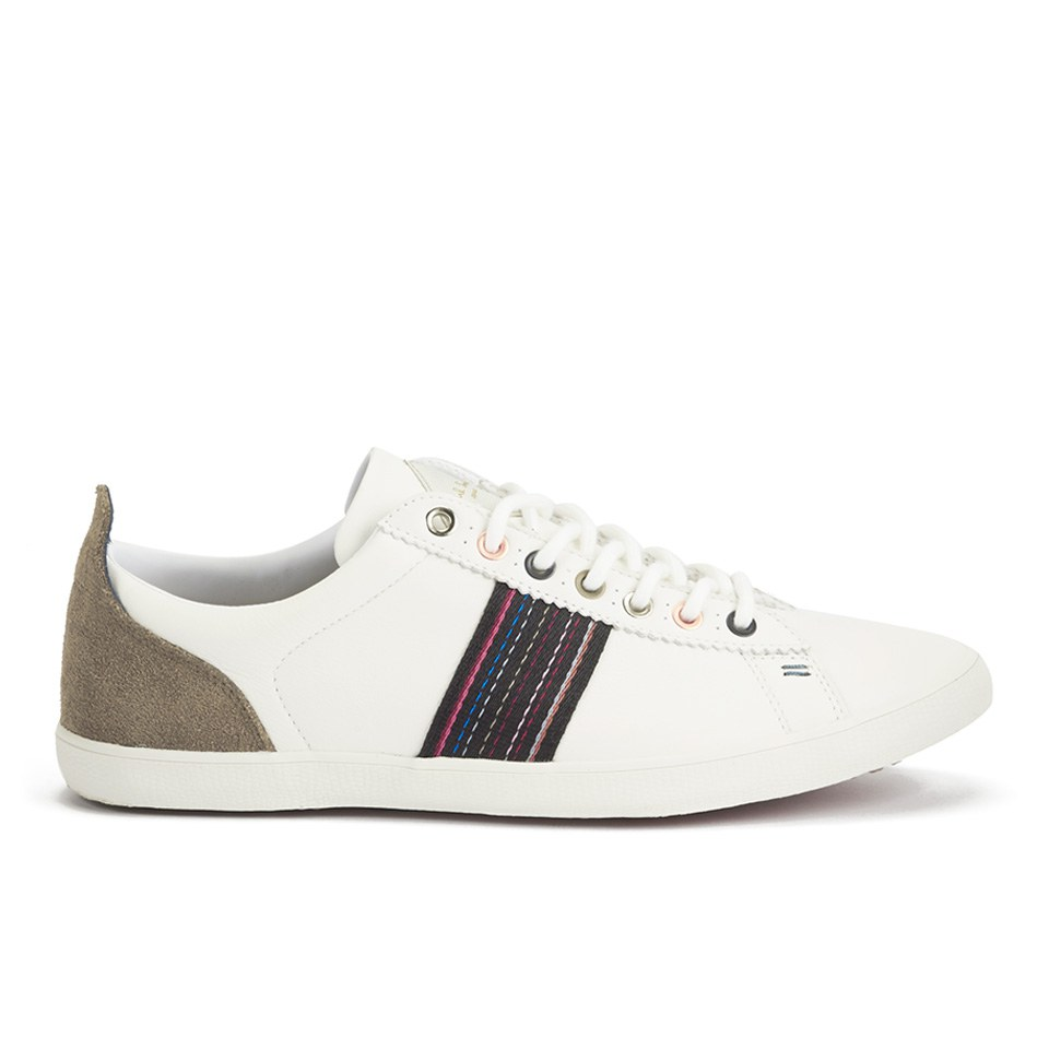 099ed8986f7cb Paul Smith Shoes Men s Osmo Leather Trainers - White Mono Lux - Free ...