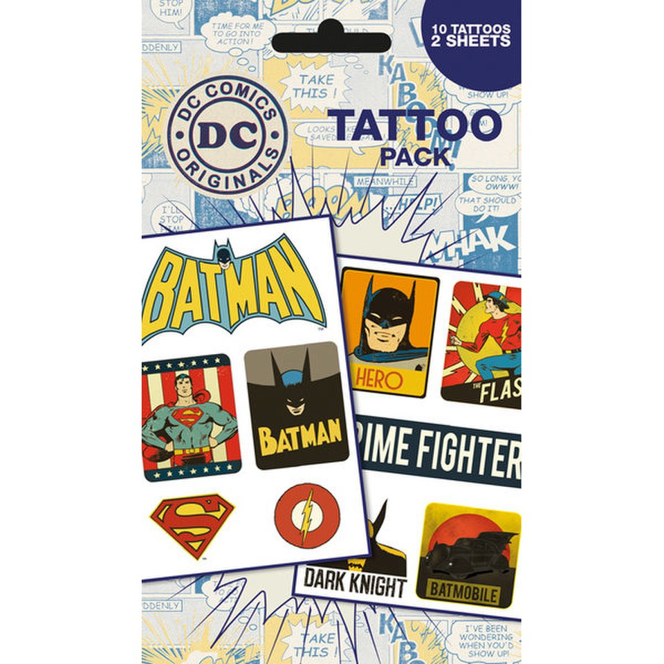 DC Comics Retro - Tattoo Pack