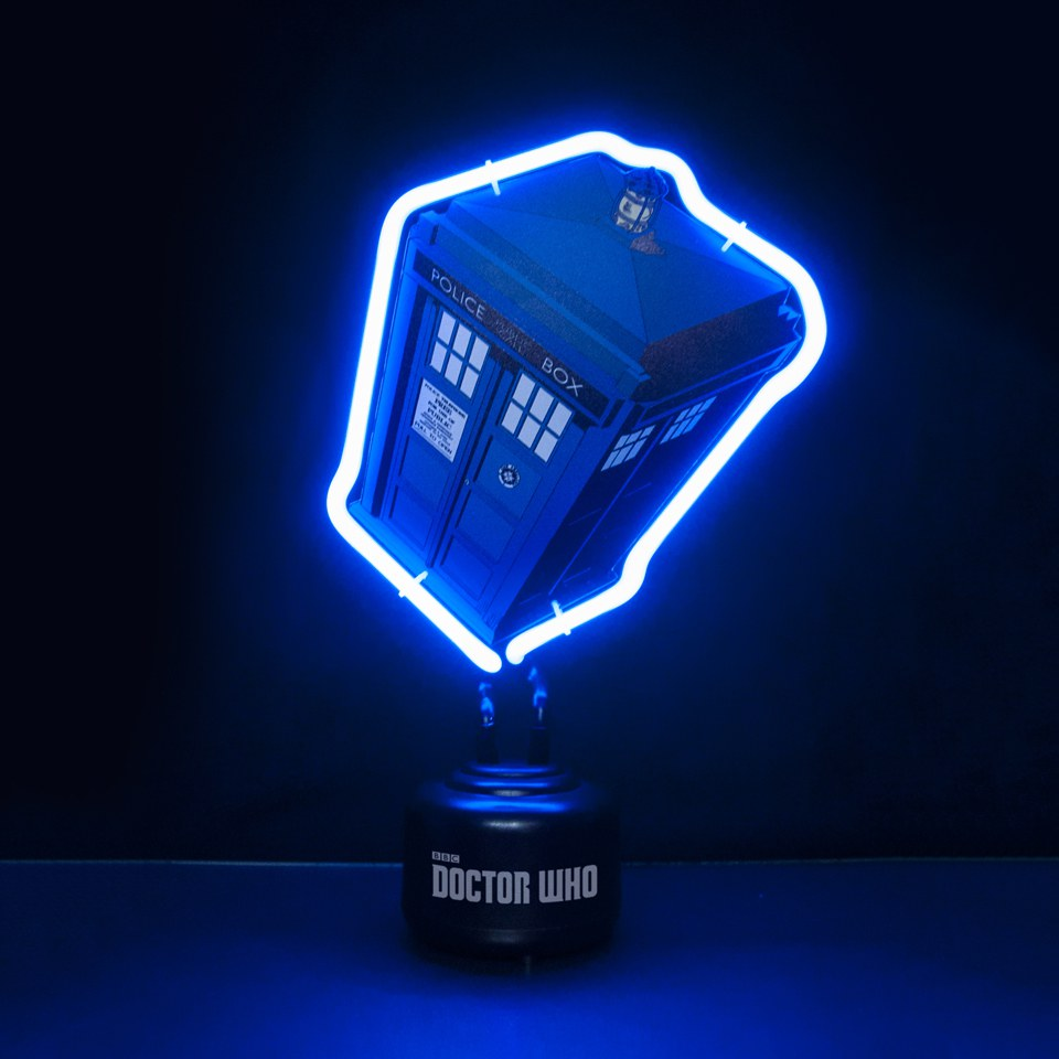 Mini Néon Doctor Who Tardis