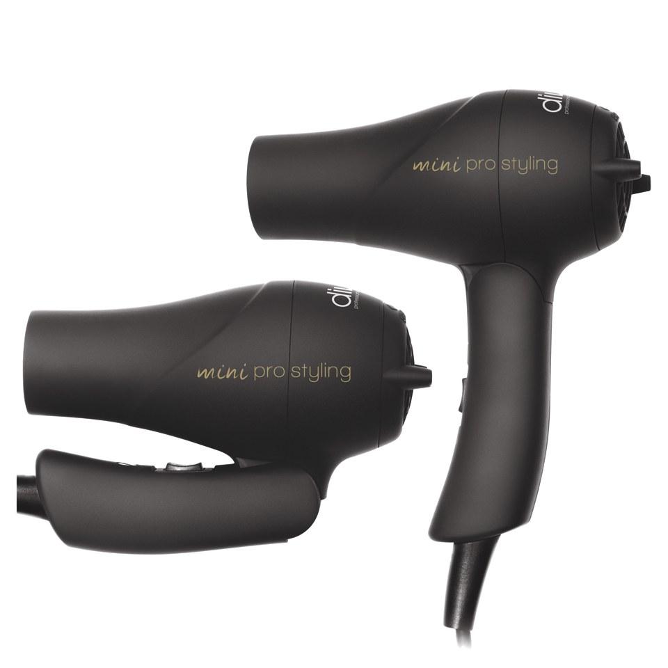 Diva Professional Styling Travel Dryer Rubberised Black Hq Hair Mini Description