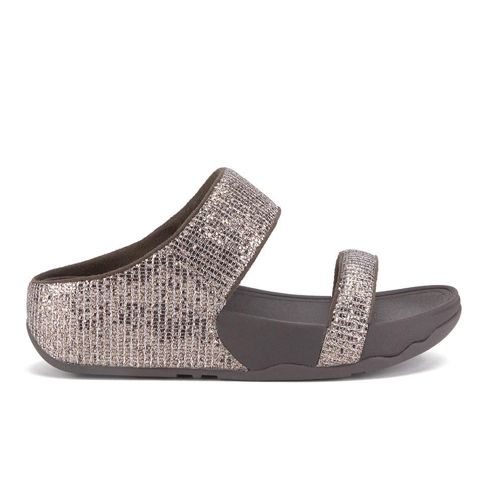08263d31502a FitFlop Women s Lulu Superglitz Slide Sandals - Bronze Womens ...