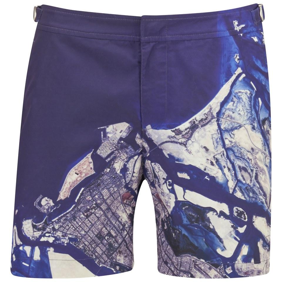 92cdb6027c ... Orlebar Brown Men's Bulldog Abu Dhabi Print Swim Shorts - Multi