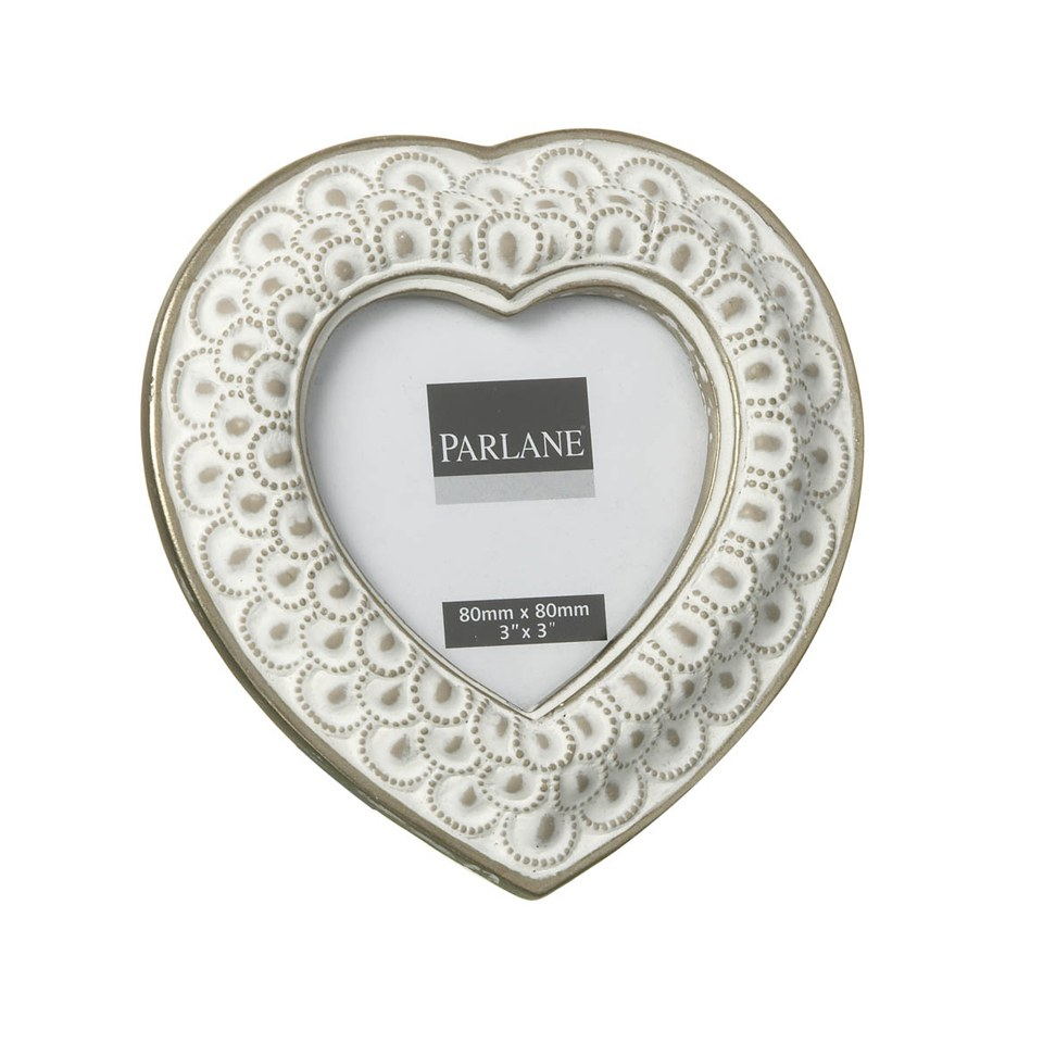 Parlane Heart Frame - White (80x80mm)
