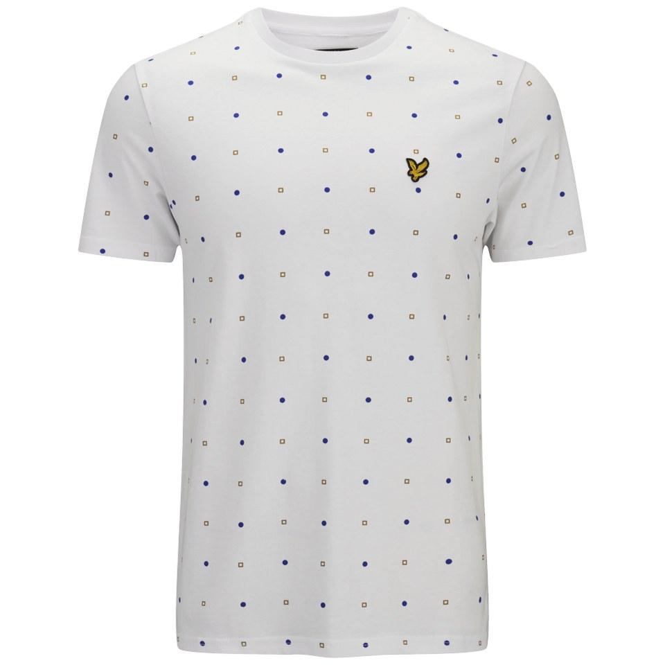 d4a81244767d5 Lyle & Scott Men's Micro Print T-Shirt - White Clothing | TheHut.com