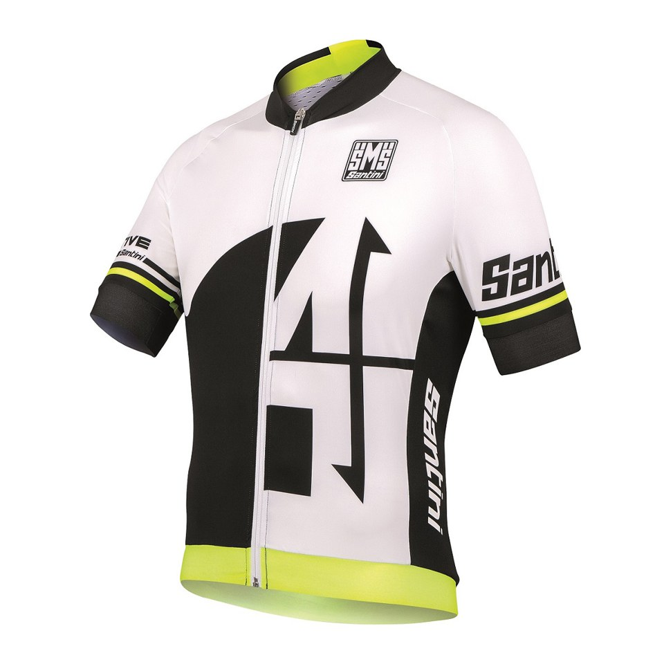 Santini Interactive 2.0 Aero Short Sleeve Jersey - Yellow ... 32d233306