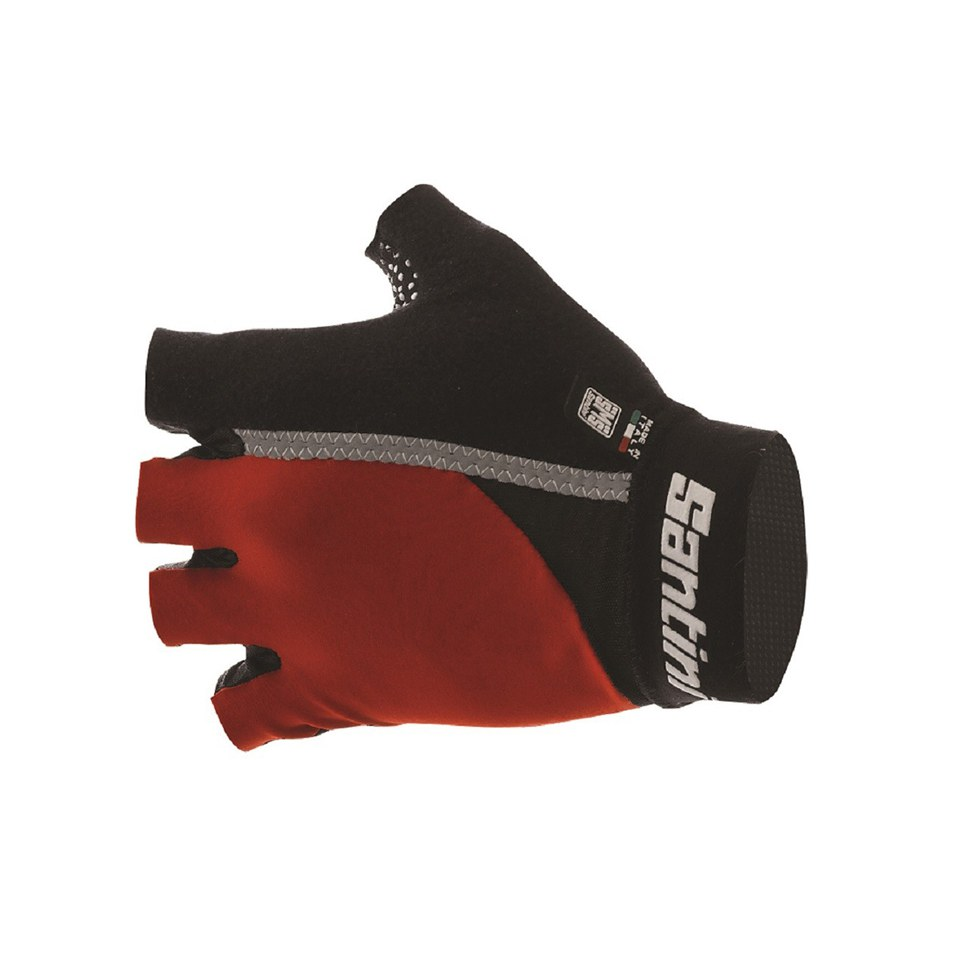 Santini Gel Mania Summer Mitts - Red