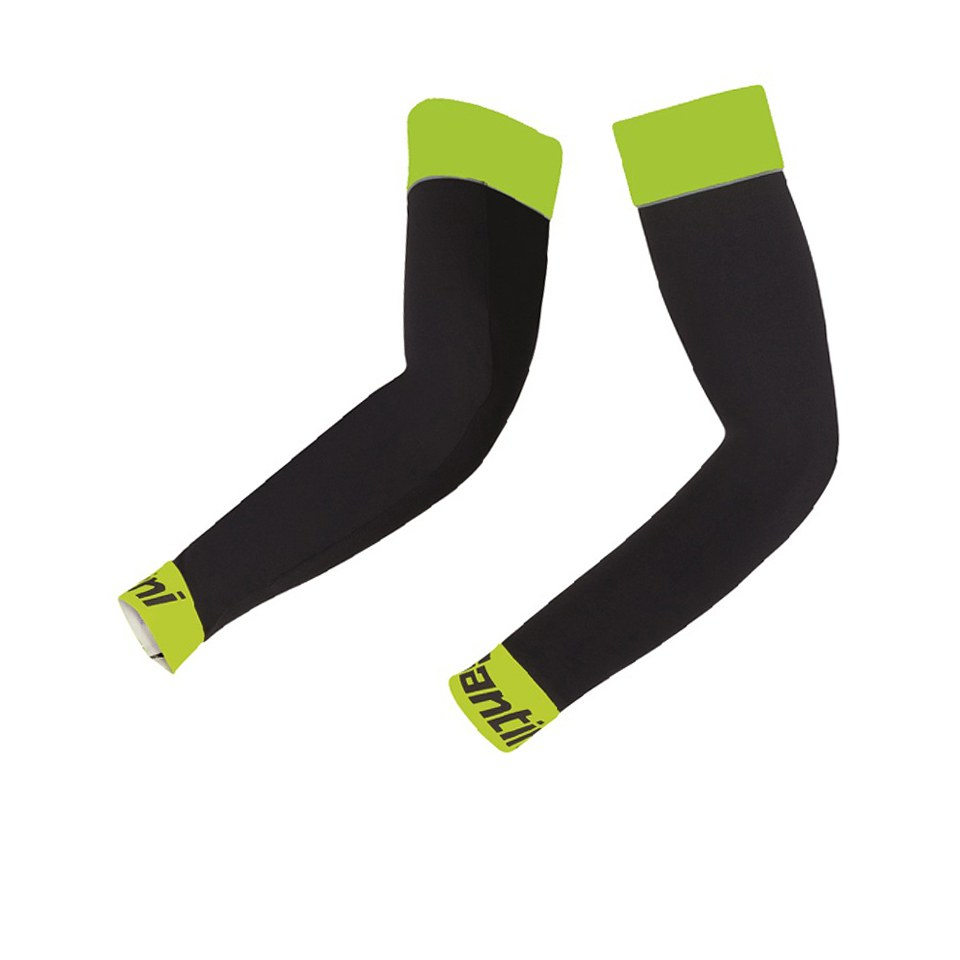 Santini BeHot Arm Warmers - Black/Yellow