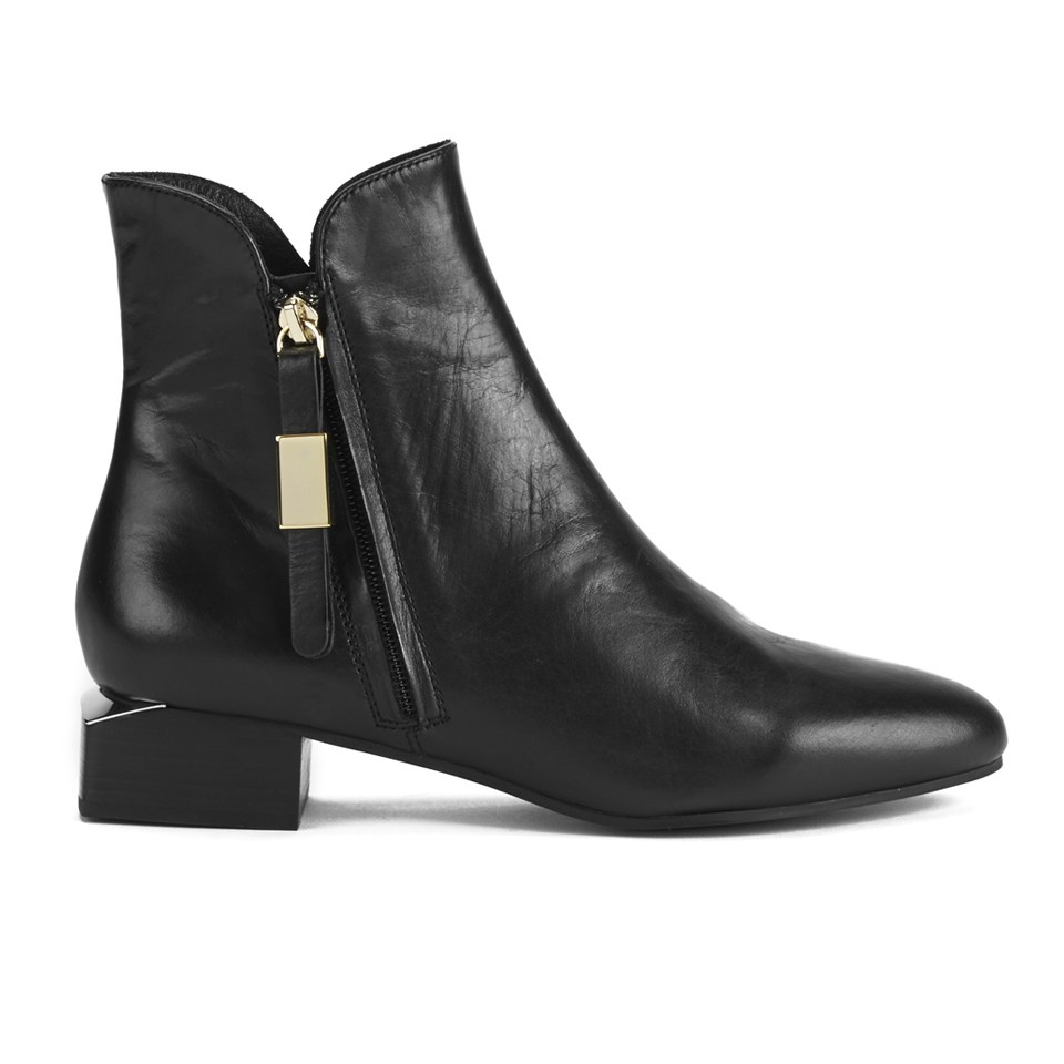 5bc5a4be11328 See By Chloé Women s Leather Heeled Ankle Boots - Black - Free UK ...