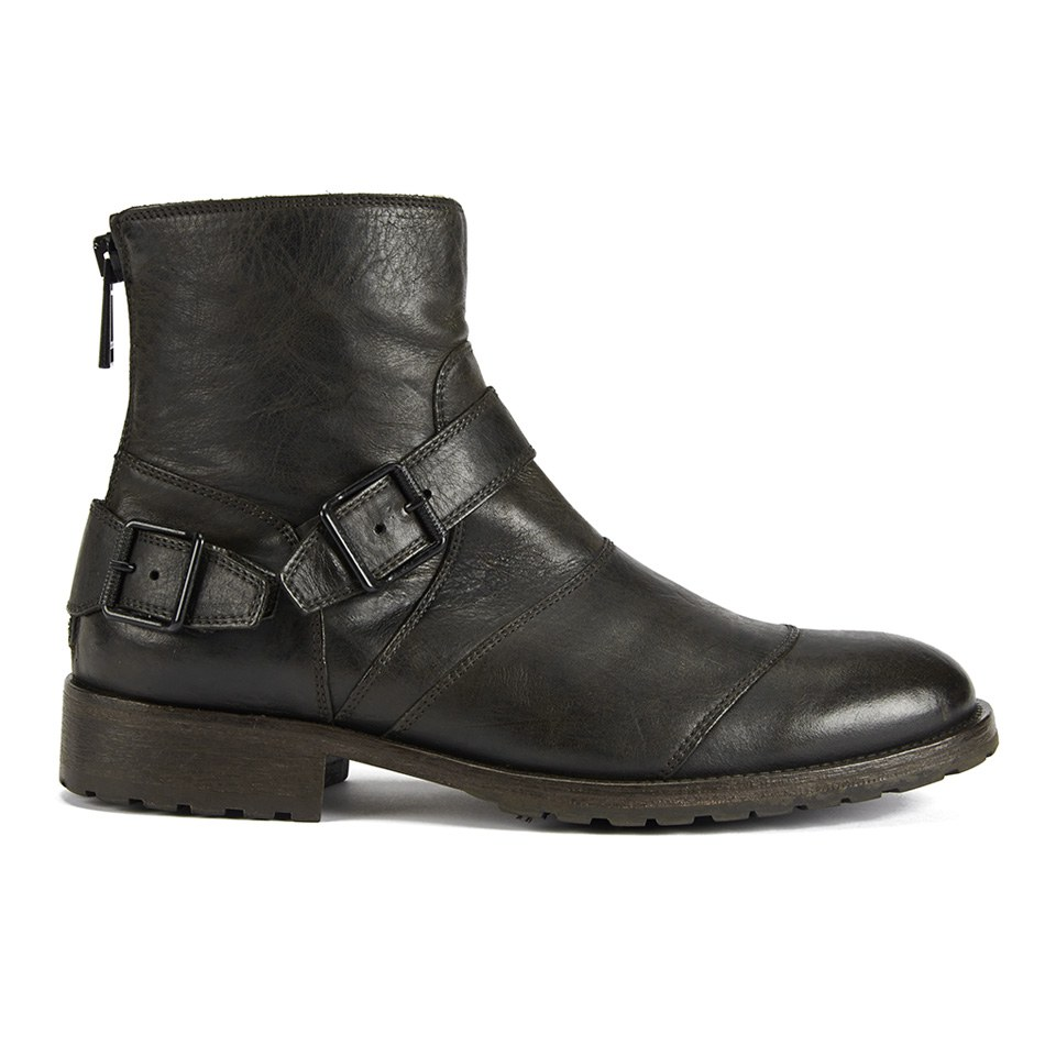 Belstaff Men S Trialmaster Buckle Leather Short Boots