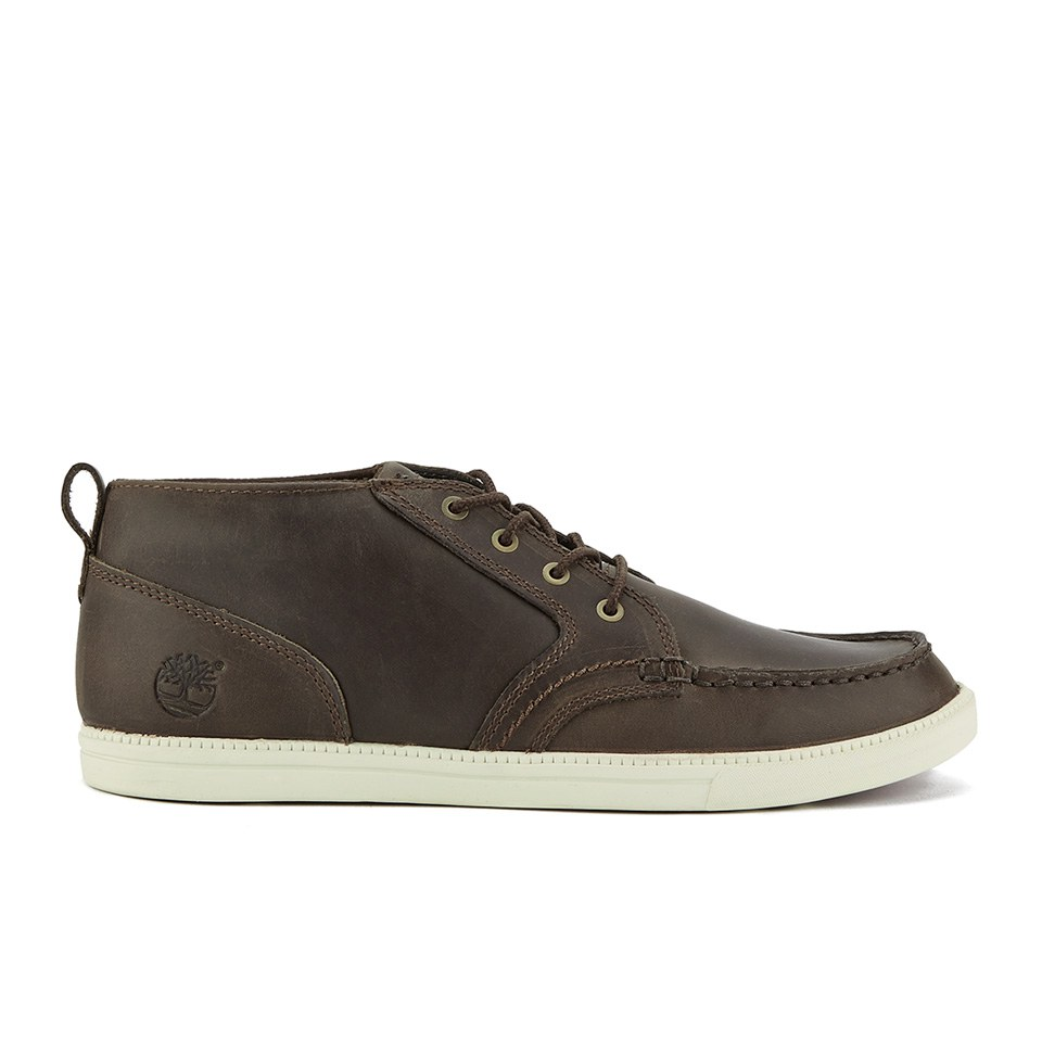 Timberland Men's Newmarket Fulk LP Chukka Moc Toe Leather Boots Brown