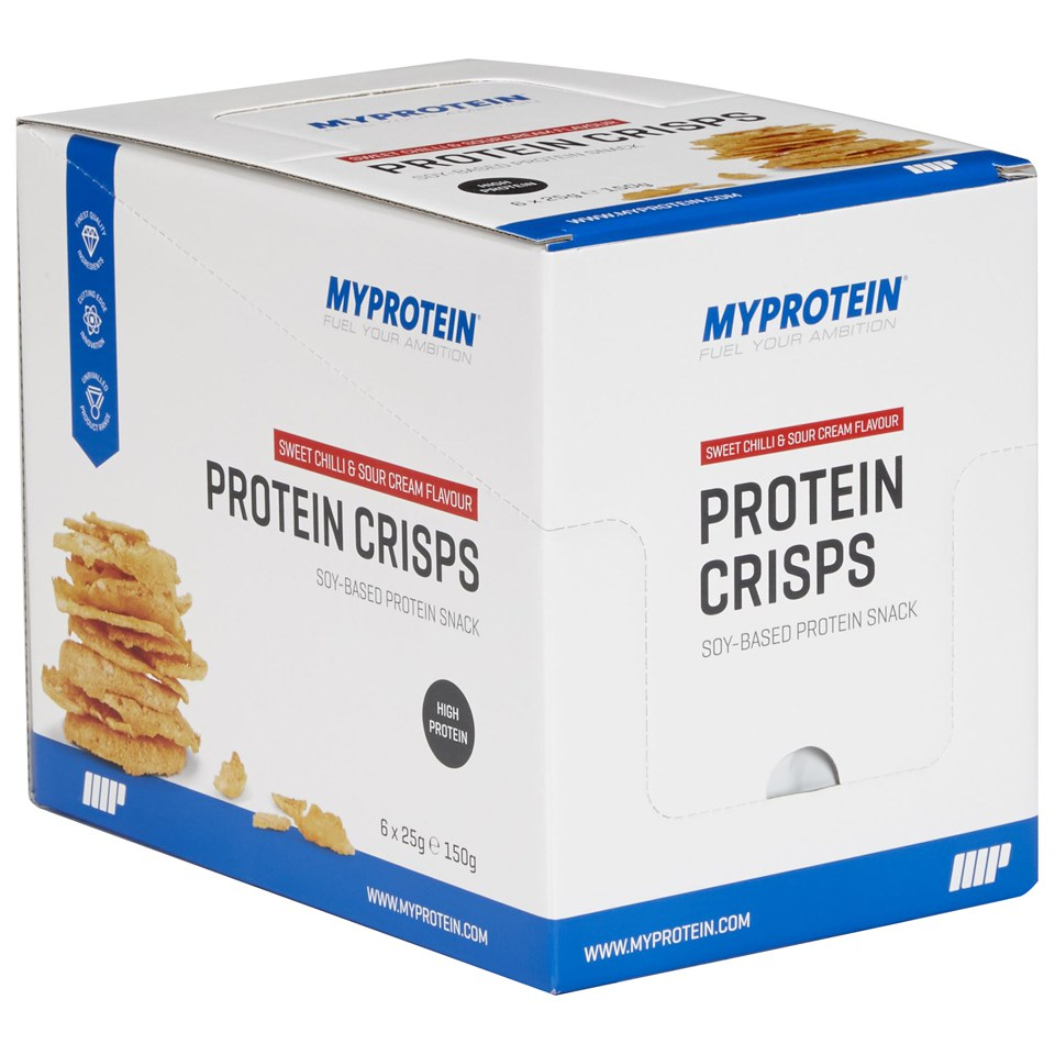 Protein Crisps, Sweet Chilli & Sour Cream, 25g x 6 Packets