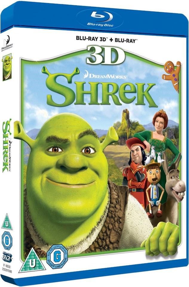 Shrek 3d Blu Ray Zavvi