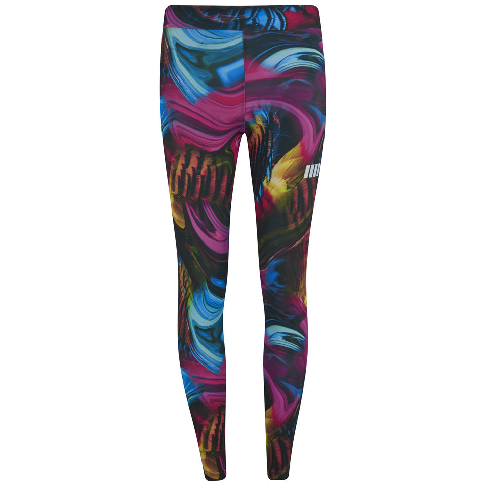 Myprotein Psychedelic Swirl Print Leggings, Multi, XS/US 2 (USA)