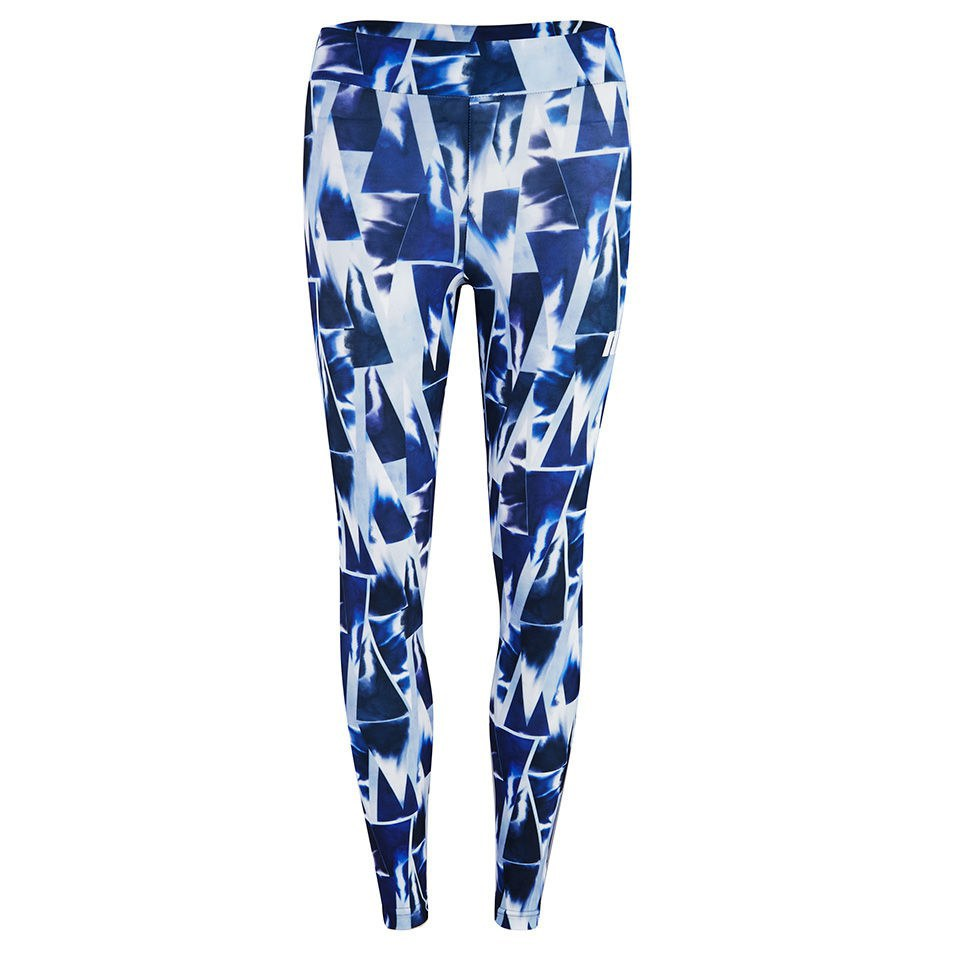 Myprotein Blue Geometric Print Leggings, Multi, L/US 8 (USA)