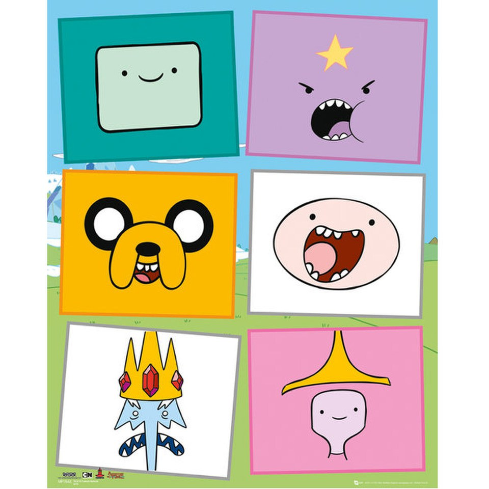 Adventure Time Faces - Mini Poster - 40 x 50cm