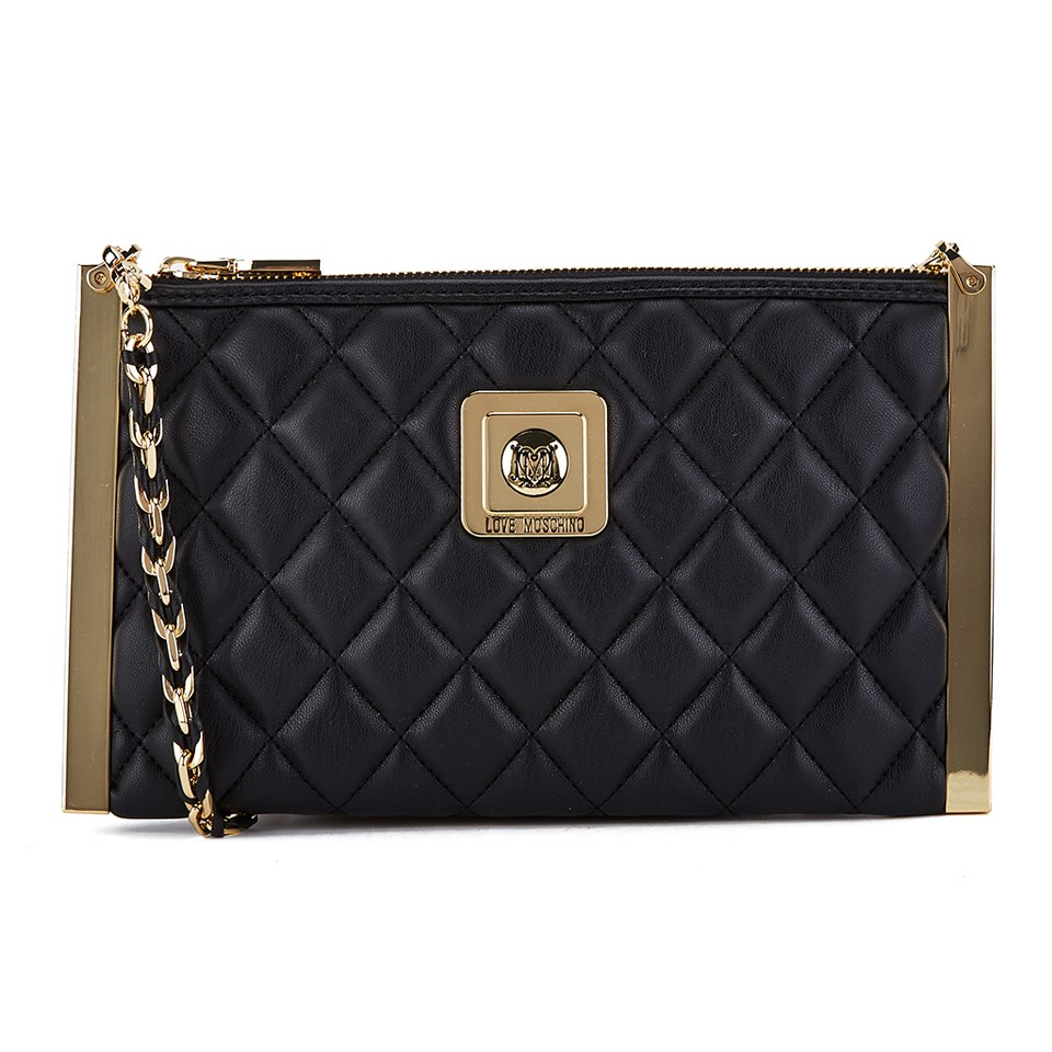 9c7b09cb9b5e Love Moschino Women s Quilted Clutch Bag - Black - Free UK Delivery over £50