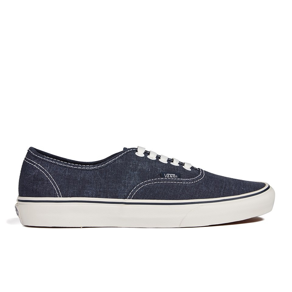 89b5e070f6 Vans Men s Authentic Washed Trainers - Dark Blue - Free UK Delivery over £50