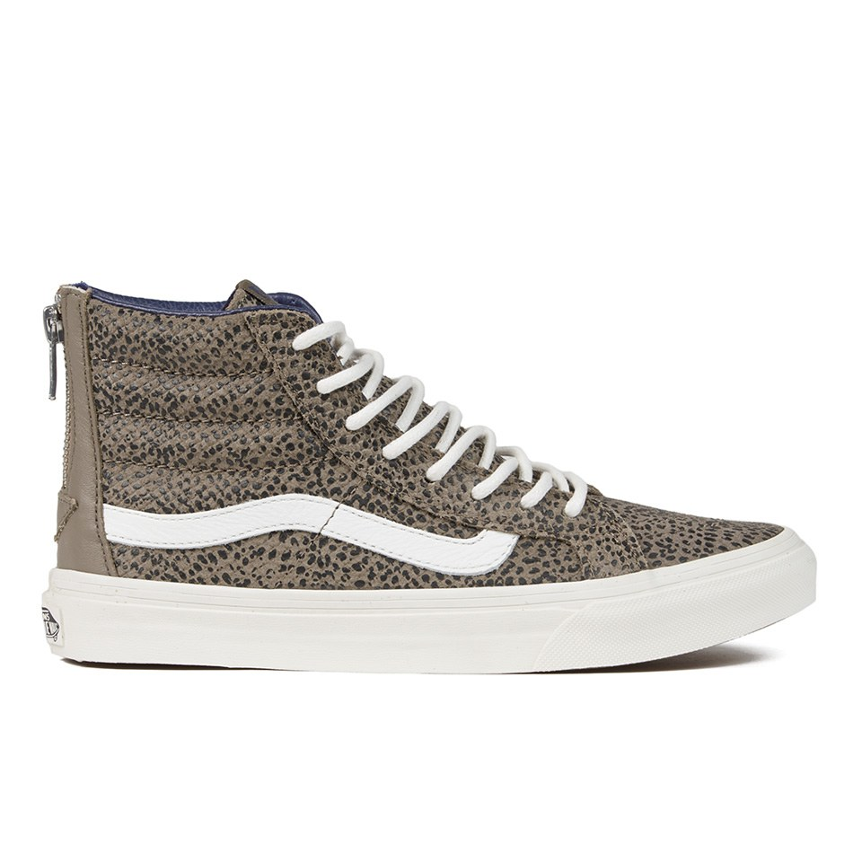 648ab6d414 ... Vans Women s SK8-Hi Slim Zip Cheetah Suede Hi-Top Trainers - Black