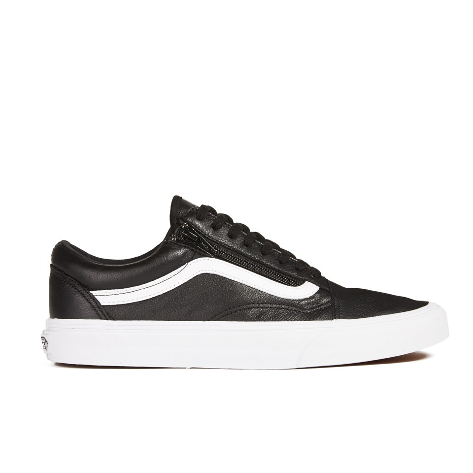 e467343ae5 Vans Men s Old Skool Zip Premium Leather Trainers - Black - Free UK  Delivery over £50