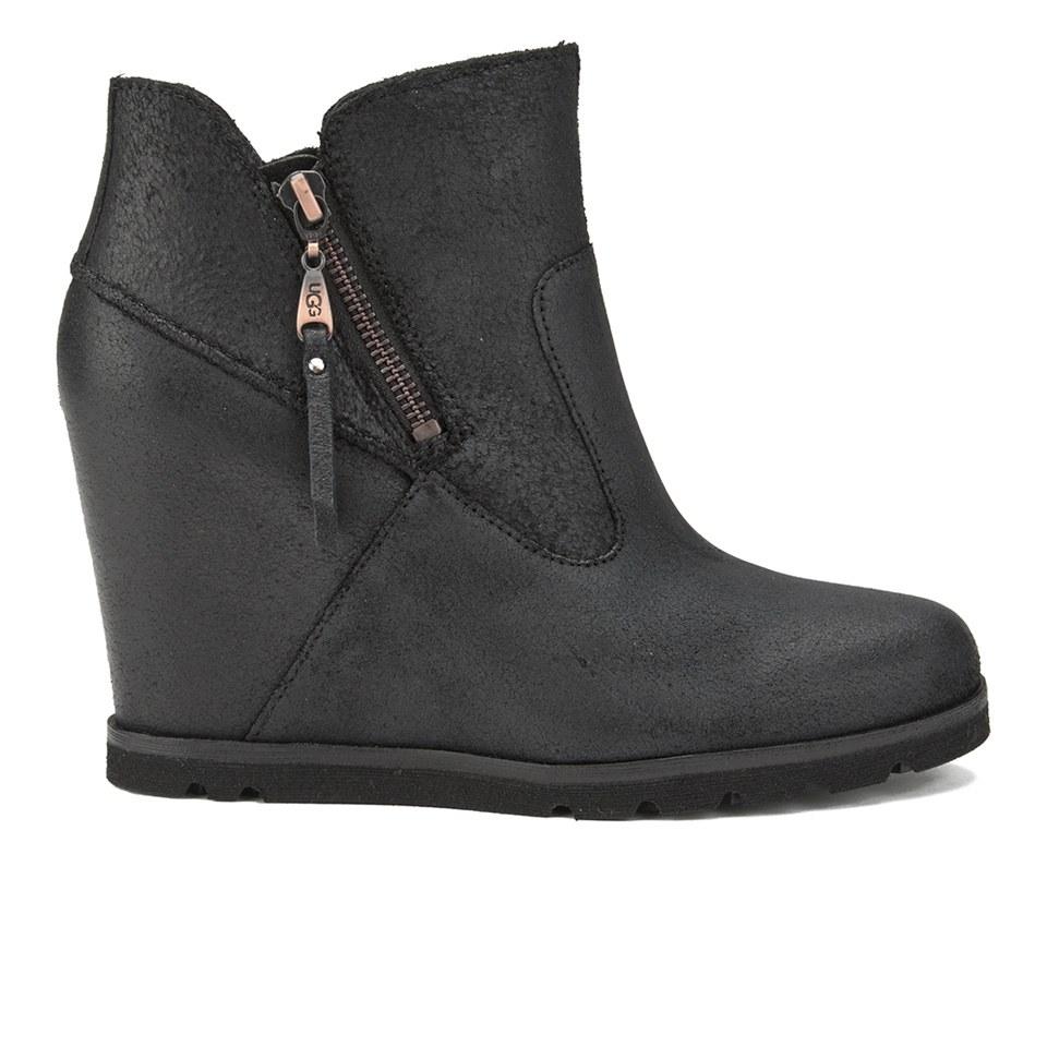 dd3550bf647 UGG Women's Myrna Wedged Ankle Boots - Black