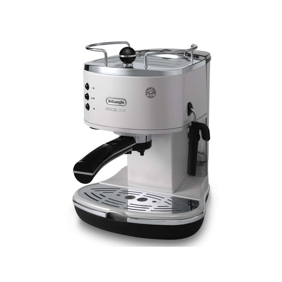 Delonghi Coffee Maker Ec7 : De Longhi ECOM311 Icona Micalite Espresso Coffee Machine - White IWOOT