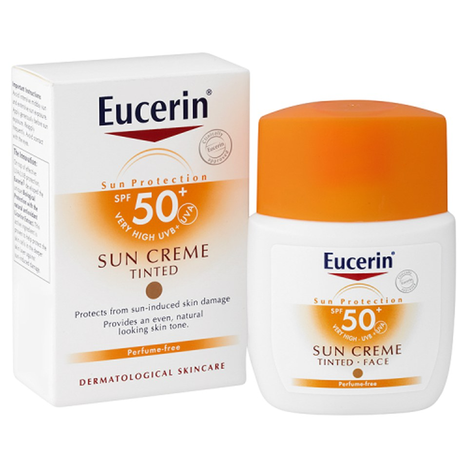 eucerin sun protection sun creme tinted spf50 very high. Black Bedroom Furniture Sets. Home Design Ideas