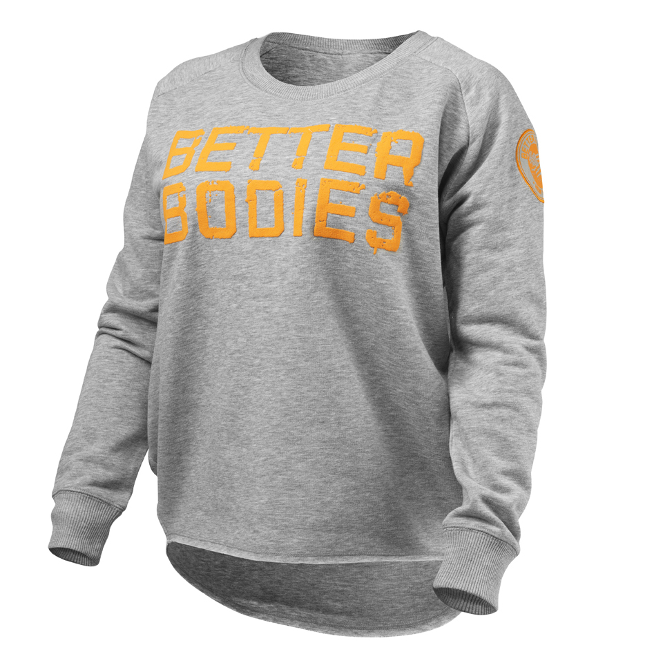 Better Bodies Women s Wideneck Sweatshirt - Grey Melange  63ea4d91bd