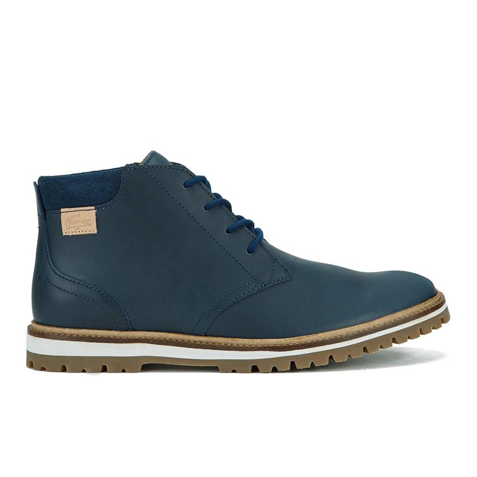 0b8ca0836bc41 Lacoste Men s Montbard Leather Chukka Boots - Dark Blue - Free UK ...