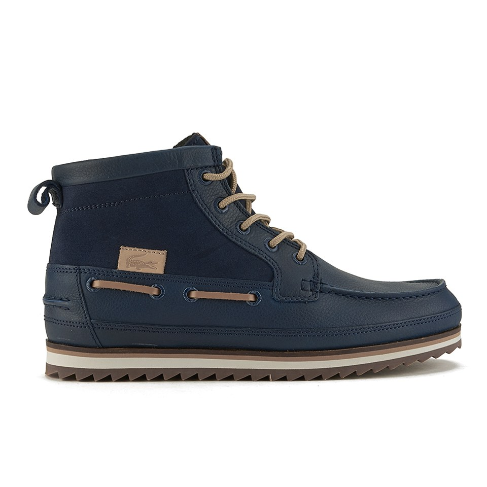 c859aadca1a Lacoste Men's Sauville Mid 8 Leather/Suede Chukka Boots - Navy