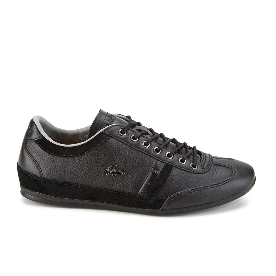 7c9bbb14a34a Lacoste Men s Misano 36 Leather Suede Trainers - Black - Free UK ...