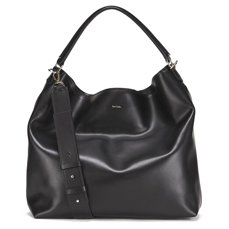 0b133ef9ff Paul Smith Accessories Women s Leather Hobo Bag - Black - Free UK ...