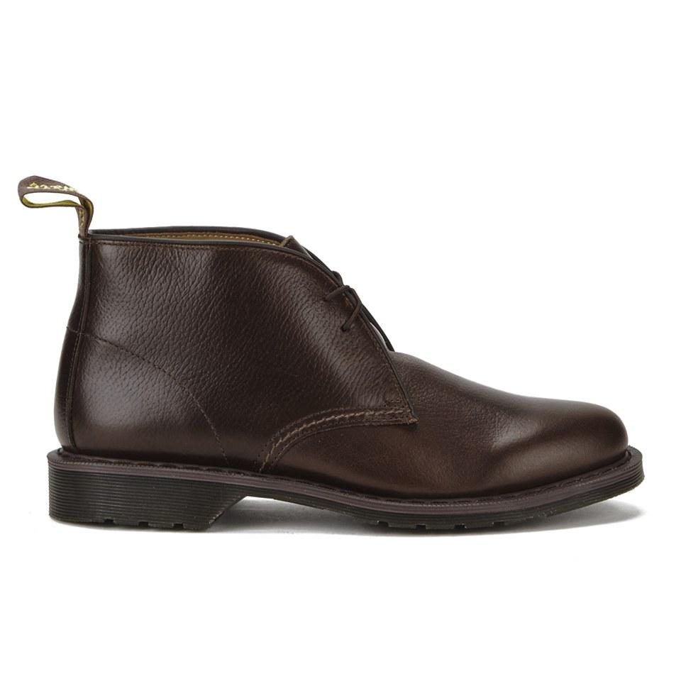 7e856306576 Dr. Martens Men's Oscar Sawyer New Nova Leather Desert Boots - Dark Brown