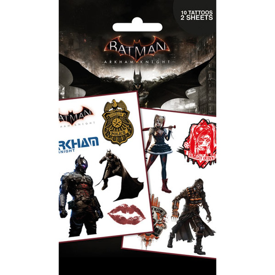 DC Comics Batman Arkham Knight Characters - Tattoo Pack