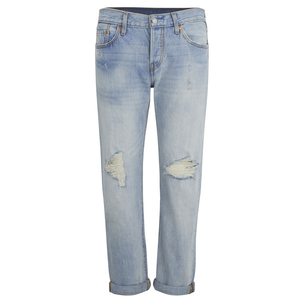 Levi S Women S 501 Mid Waist Ripped Jeans Old Favorite