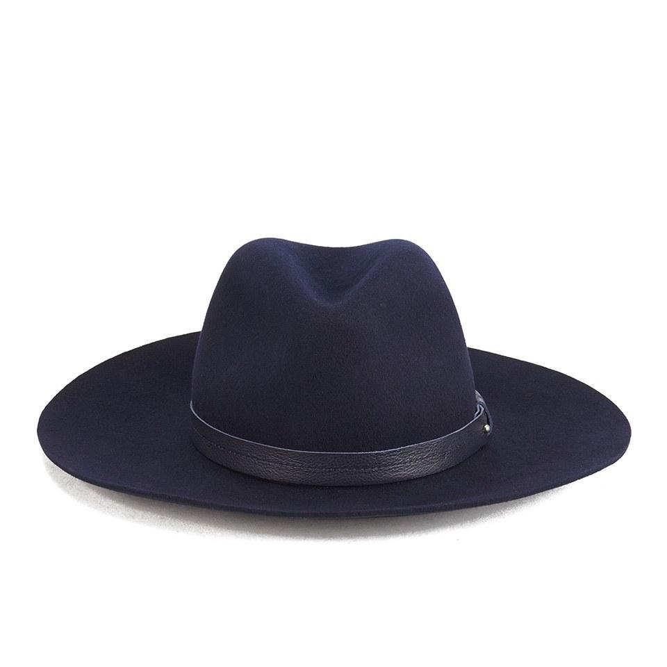 070f7e352e74c rag   bone Women s Wide Brim Fedora Hat - Navy - Free UK Delivery over £50