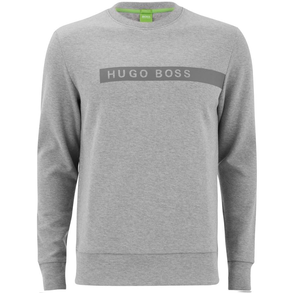 67617b06d BOSS Green Men's Salbo Sweatshirt - Grey Melange - Free UK Delivery over £50