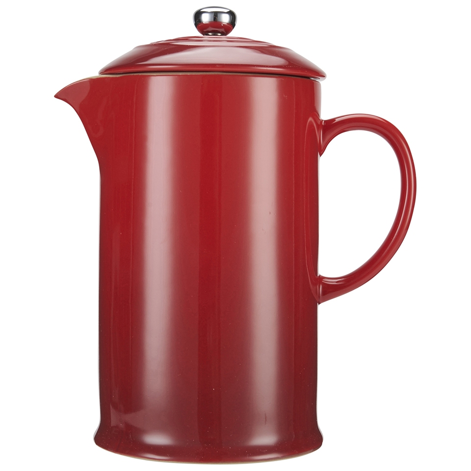 le creuset stoneware cafetiere coffee press cerise. Black Bedroom Furniture Sets. Home Design Ideas